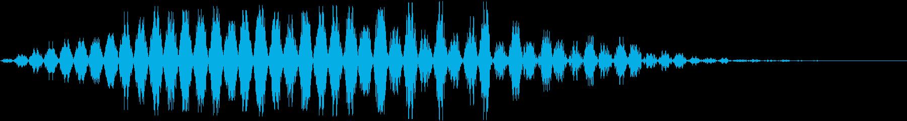 音楽効果;シンセサイザーコードボタ...の再生済みの波形