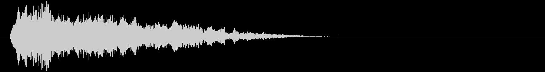 「不快音注意」ホラーME ヒット音の未再生の波形