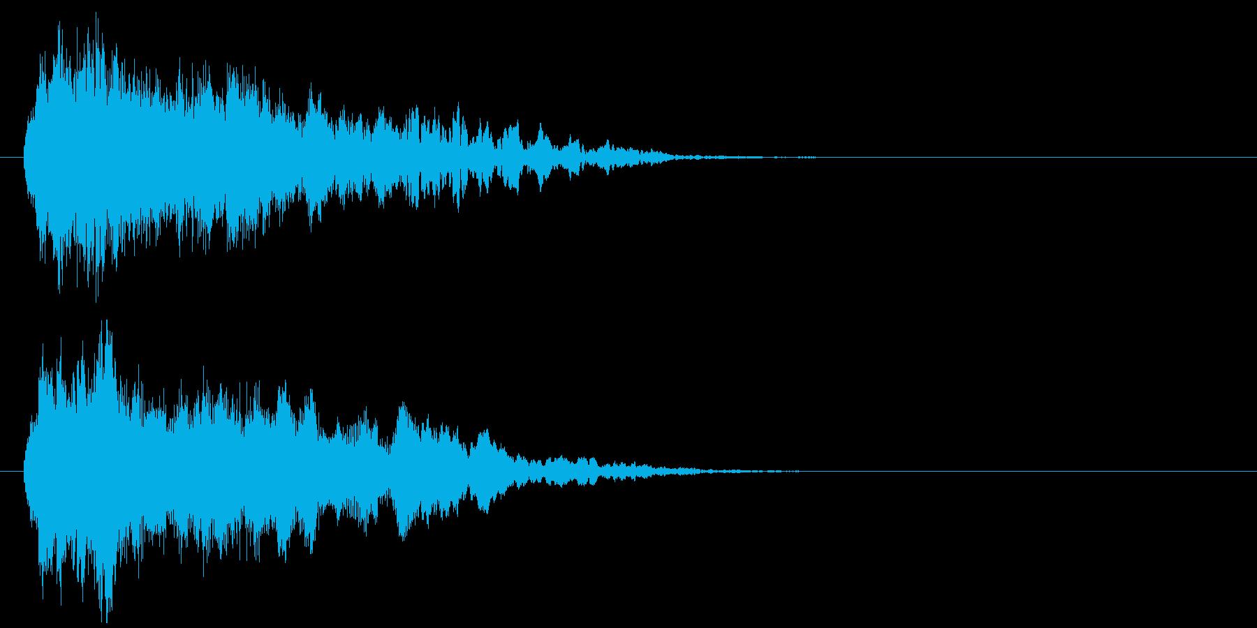 「不快音注意」ホラーME ヒット音の再生済みの波形