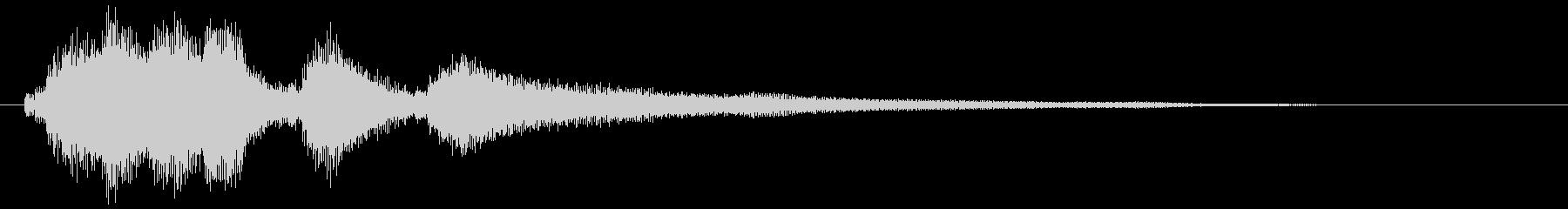 穏やかな音色のギターサウンドロゴの未再生の波形