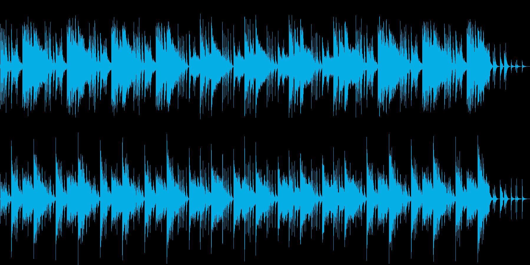 ノスタルジックなシンセ・管楽器の再生済みの波形
