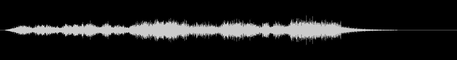 2「奇妙な音、不快な音、うっとうしげ」の未再生の波形