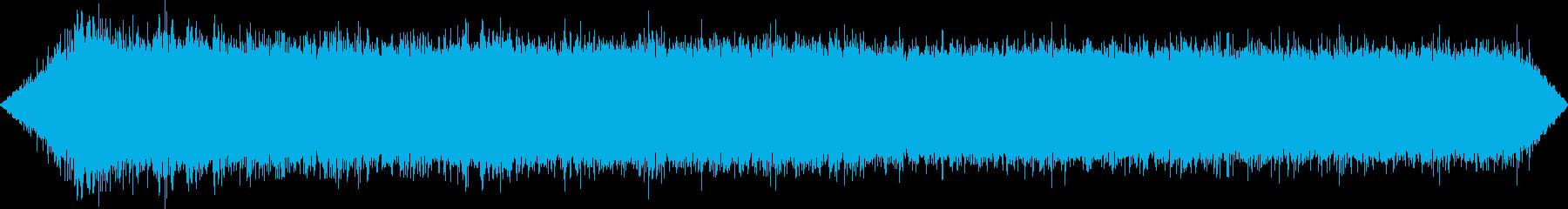 ASMR 夏の森の川に落ちる滝の音とセミの再生済みの波形