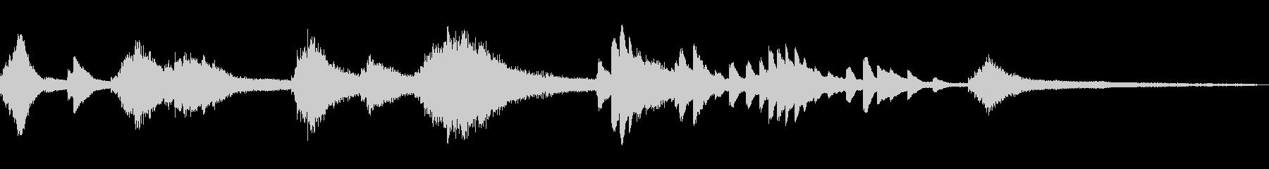 緊張感のある和風ジングル45-ピアノソロの未再生の波形