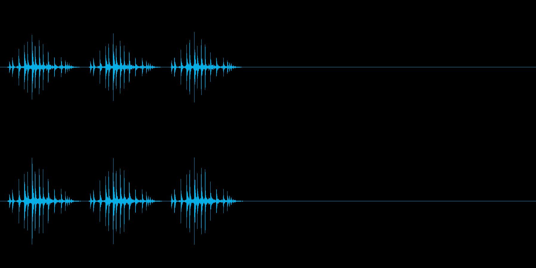 ギリギリギリ(釣り、リール巻き、早め)の再生済みの波形
