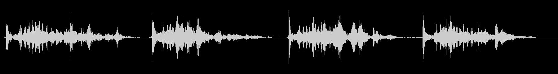 船外機のプルコードを4回引くの未再生の波形