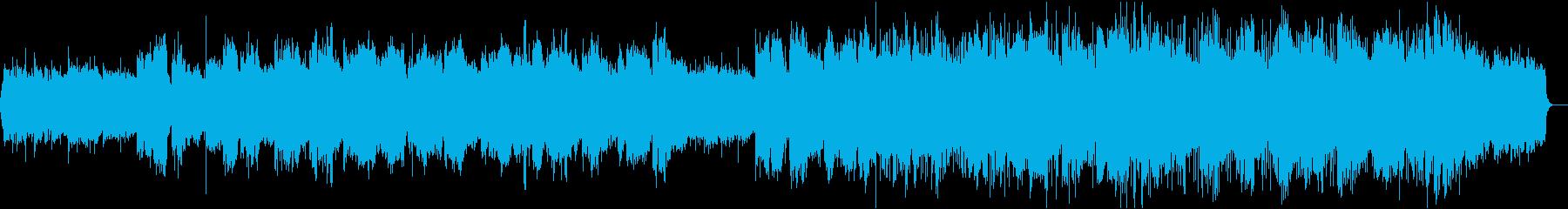 ピアノとオーケストラが入った合唱曲の再生済みの波形