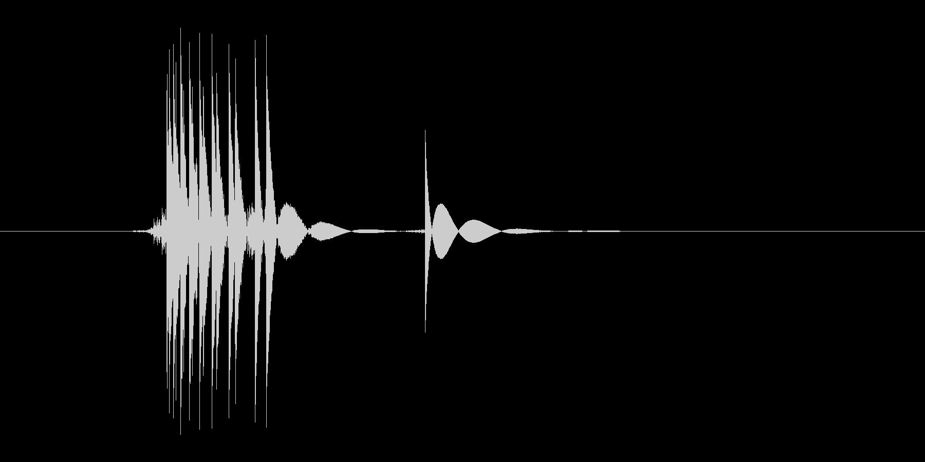 ゲーム(ファミコン風)ヒット音_004の未再生の波形