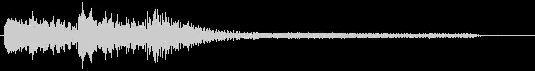 ピアノ サウンドロゴ の未再生の波形