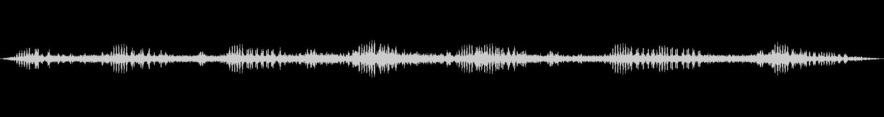 秋の虫の音中心の環境音の未再生の波形