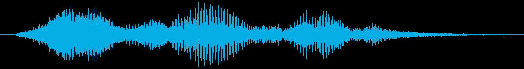 奇妙なレーザーサージの再生済みの波形