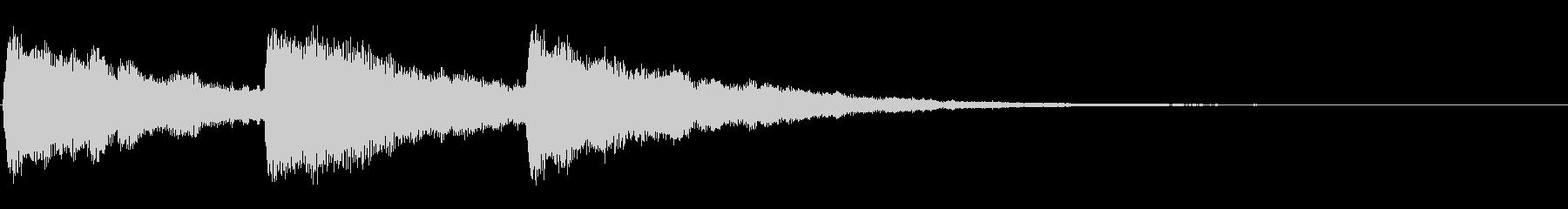 ピアノ お辞儀・礼の時の音3の未再生の波形