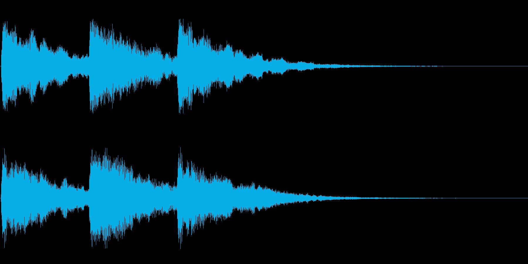 ピアノ お辞儀・礼の時の音3の再生済みの波形