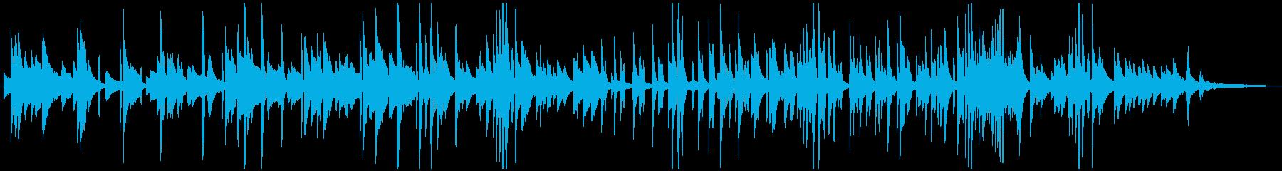 ゆっくりと揺れるジャズピアノの再生済みの波形