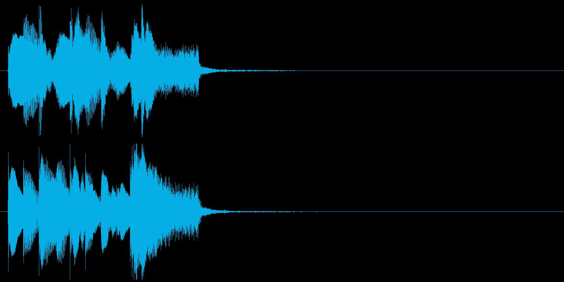 サウンドロゴ風ジングル 優しく近未来的の再生済みの波形