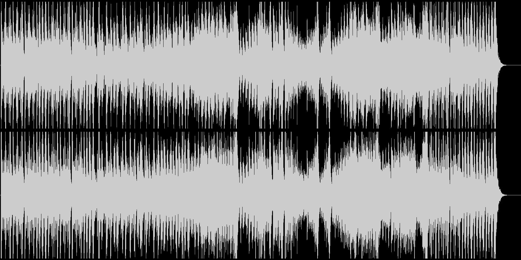 和風オープニング映像に和太鼓の迫力壮大の未再生の波形