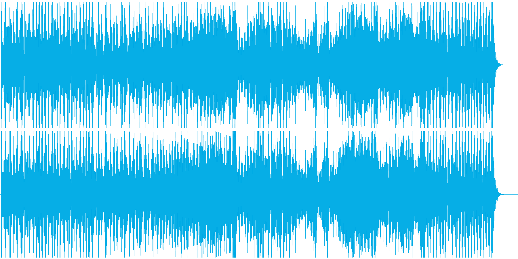 和風オープニング映像に和太鼓の迫力壮大の再生済みの波形