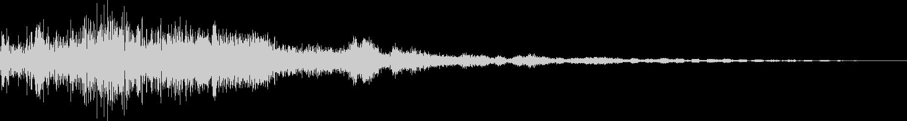 決定/ボタン押下音(ドキュイーン)の未再生の波形