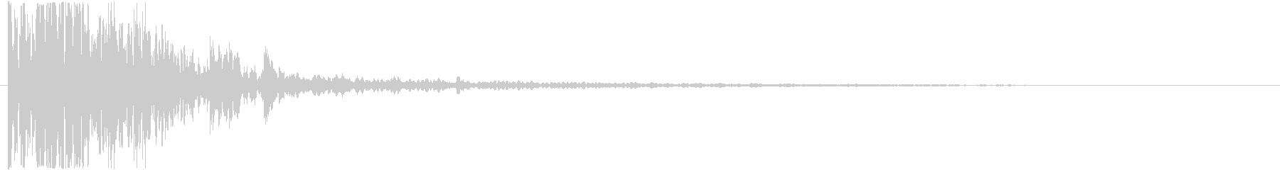 衝撃 ドアスラムホラーラージ02の未再生の波形