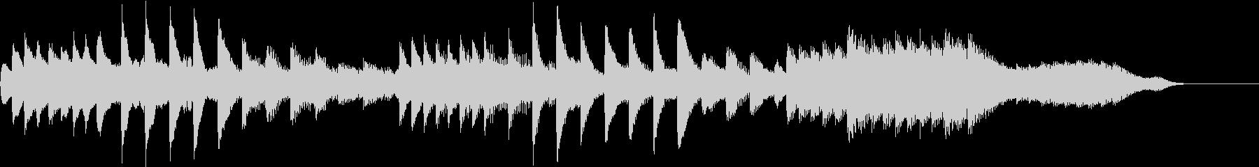 ひぐらしのリズムで涼しいピアノジングルの未再生の波形