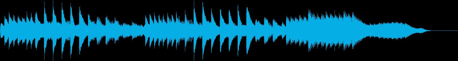 ひぐらしのリズムで涼しいピアノジングルの再生済みの波形