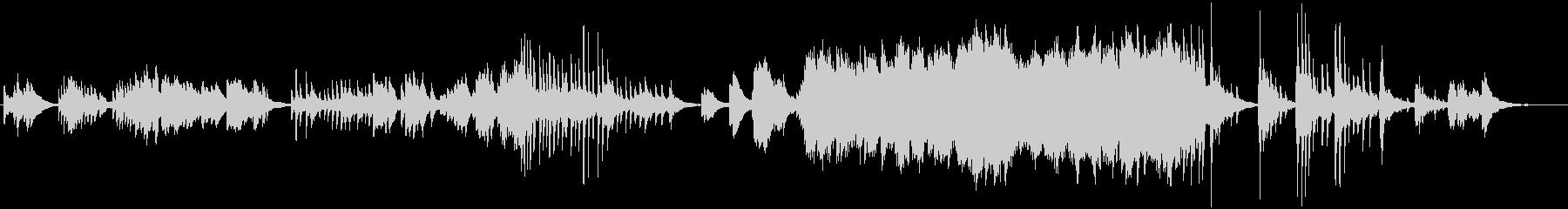 筝曲的なピアノの即興演奏の未再生の波形