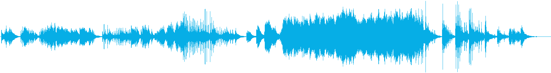 筝曲的なピアノの即興演奏の再生済みの波形