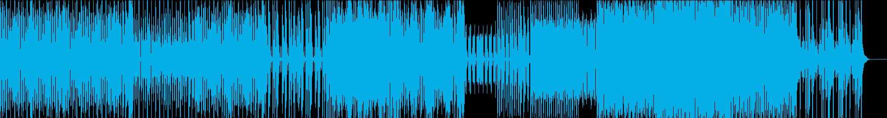 クールなテクノBGMの再生済みの波形