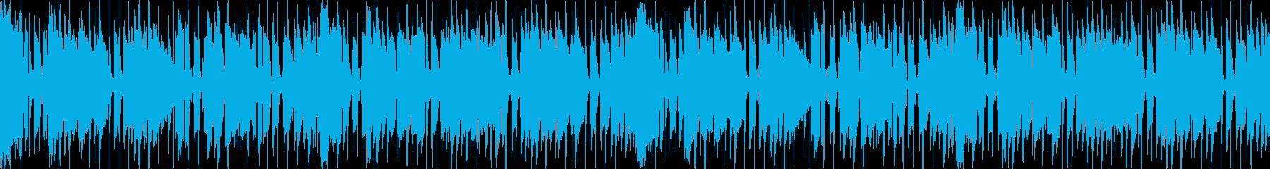 ループ、ウッドベース、明るく軽快なリズムの再生済みの波形