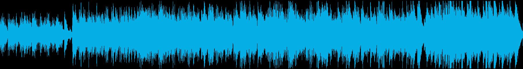 おだやかなケルト曲(ループ)の再生済みの波形
