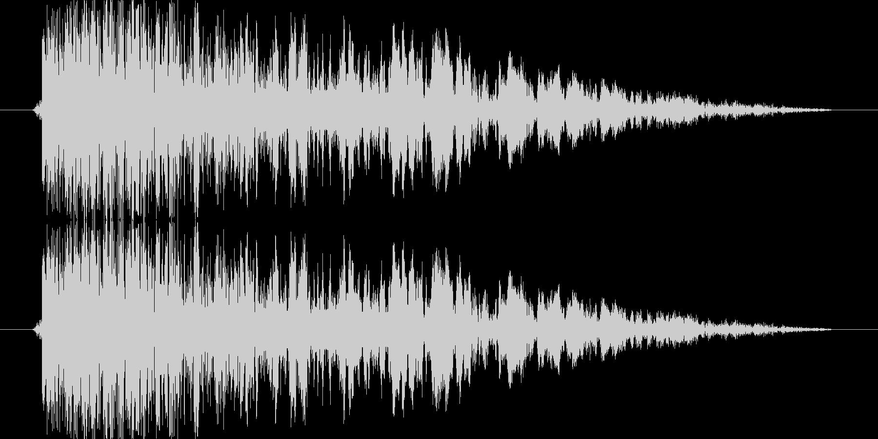 シューティングのショット音 5段階の5の未再生の波形