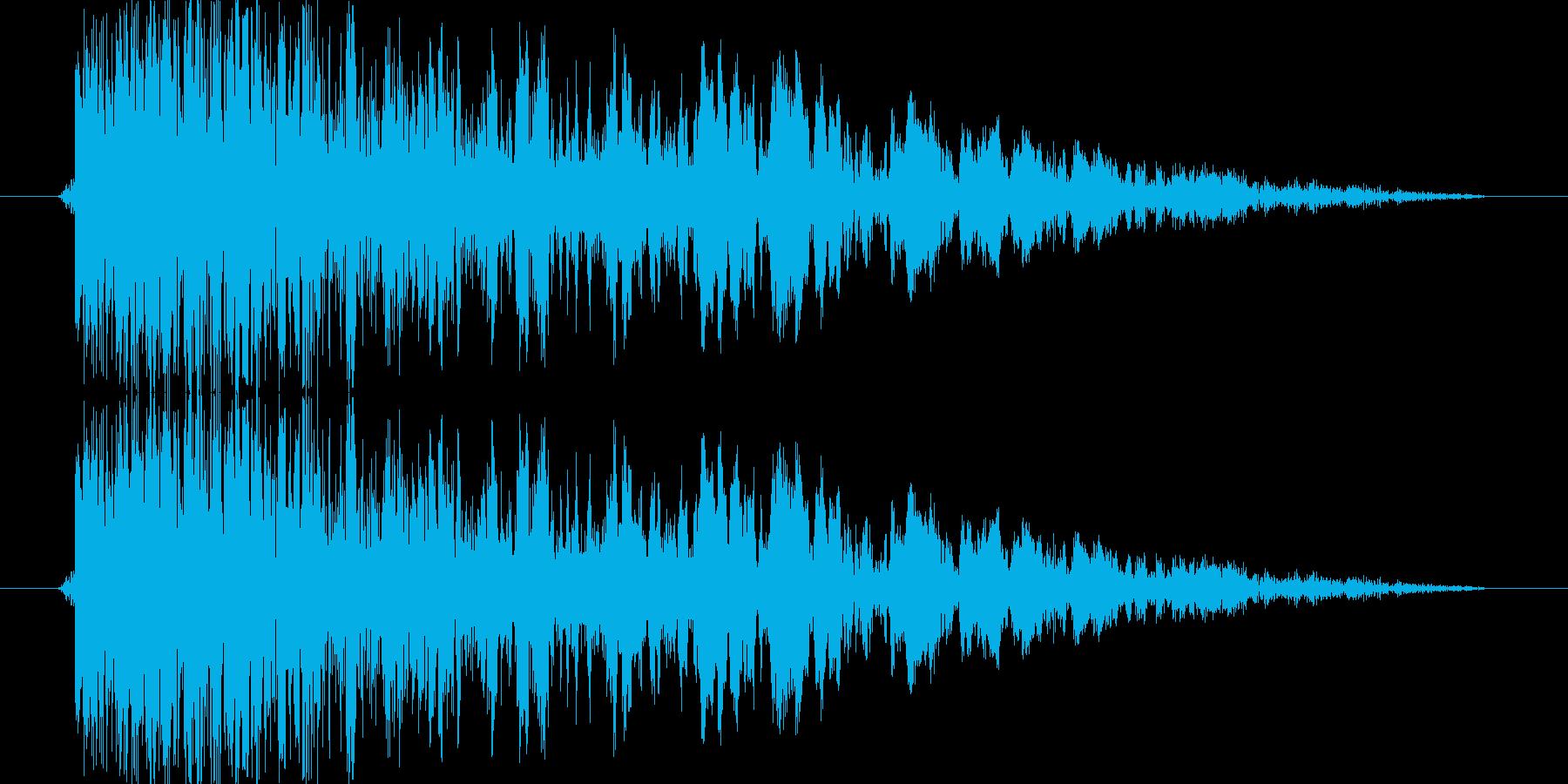 シューティングのショット音 5段階の5の再生済みの波形