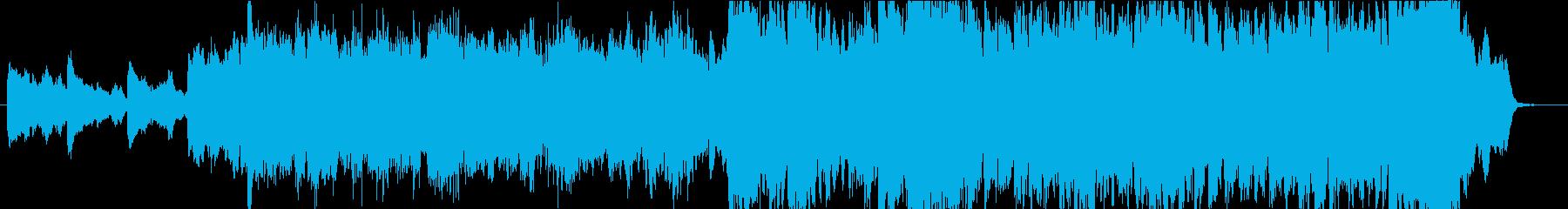 徐々に盛り上がるポジティブなオーケストラの再生済みの波形