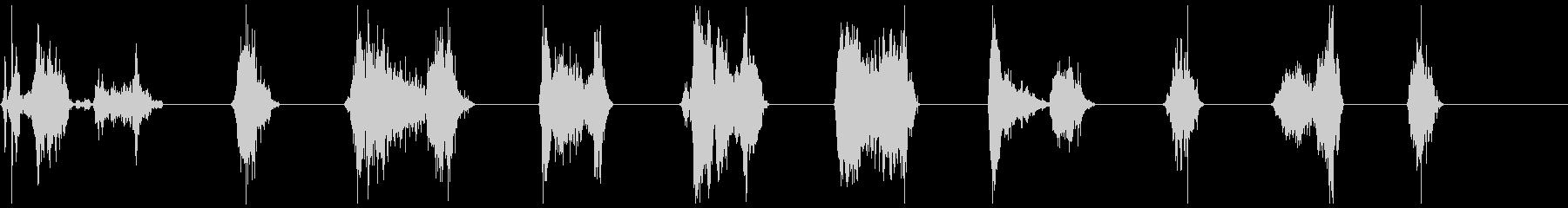 モンスター攻撃21-30の未再生の波形