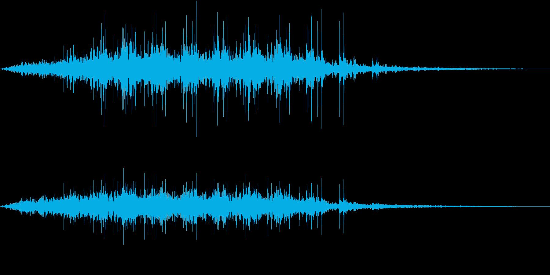 【生録音】電車が通る音 京王線 2の再生済みの波形