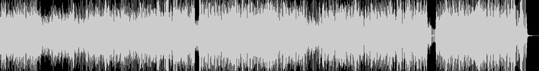 クセになるメロディの三味線テクノ 短尺の未再生の波形