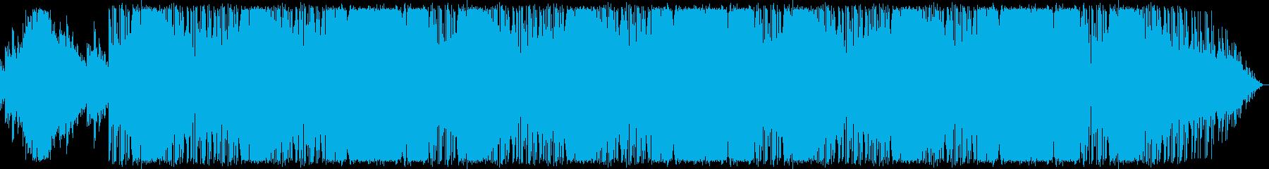 朝日が昇るイメージの心地良いEDMの再生済みの波形