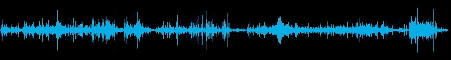 バスタブ、フォーリーで忙しいスプラッシュの再生済みの波形