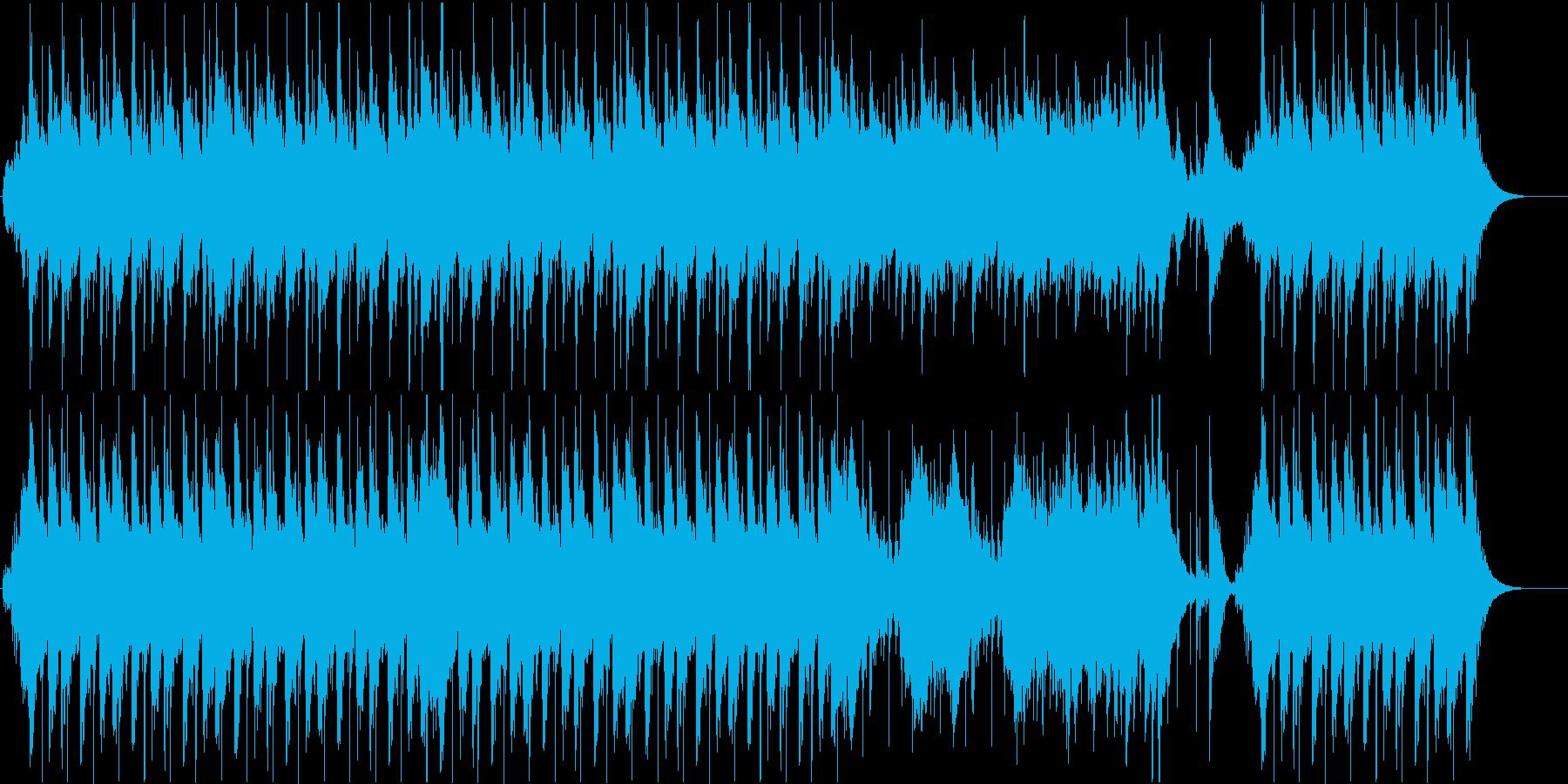 琴・尺八・三味線・和太鼓の純和風BGMの再生済みの波形