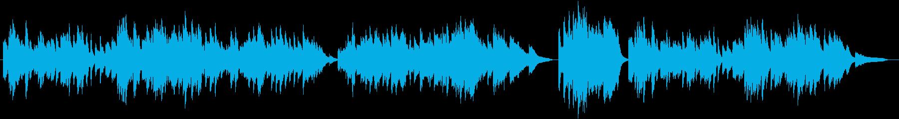 並木道を歩いているピアノソロの再生済みの波形