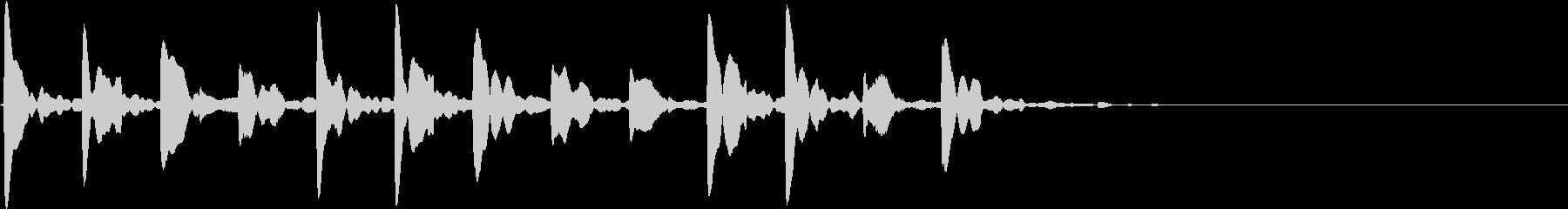 「考え中」「チクタクチクタク」的な電子音の未再生の波形