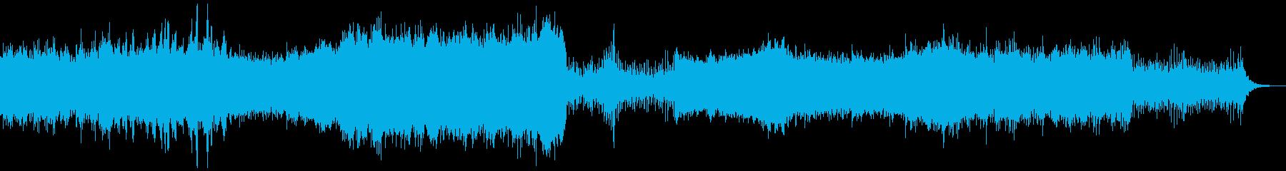 爽やかで明るい新商品発表的なシンセBGMの再生済みの波形