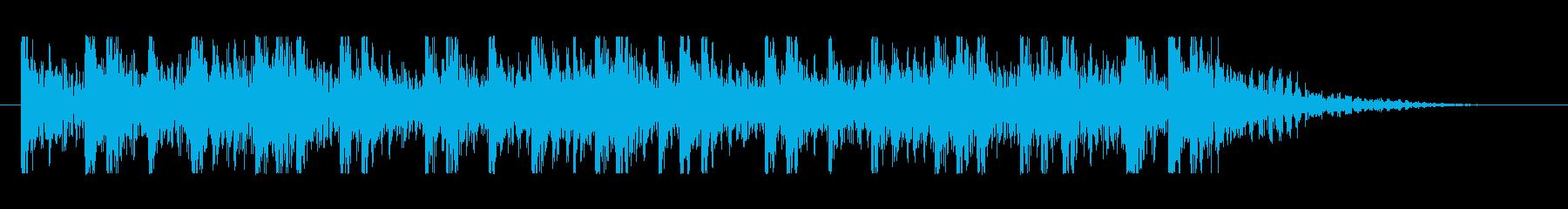 和太鼓を使った勇壮なジングルの再生済みの波形