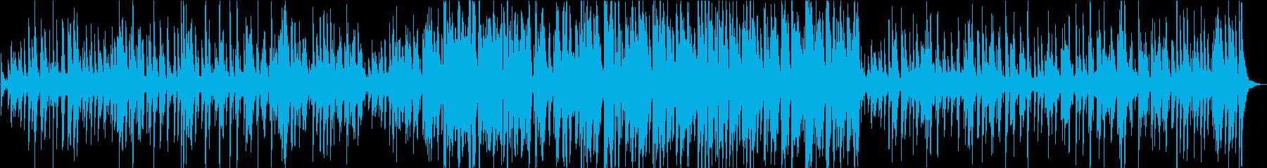 ピアノドラムベースのトラッドジャズの再生済みの波形