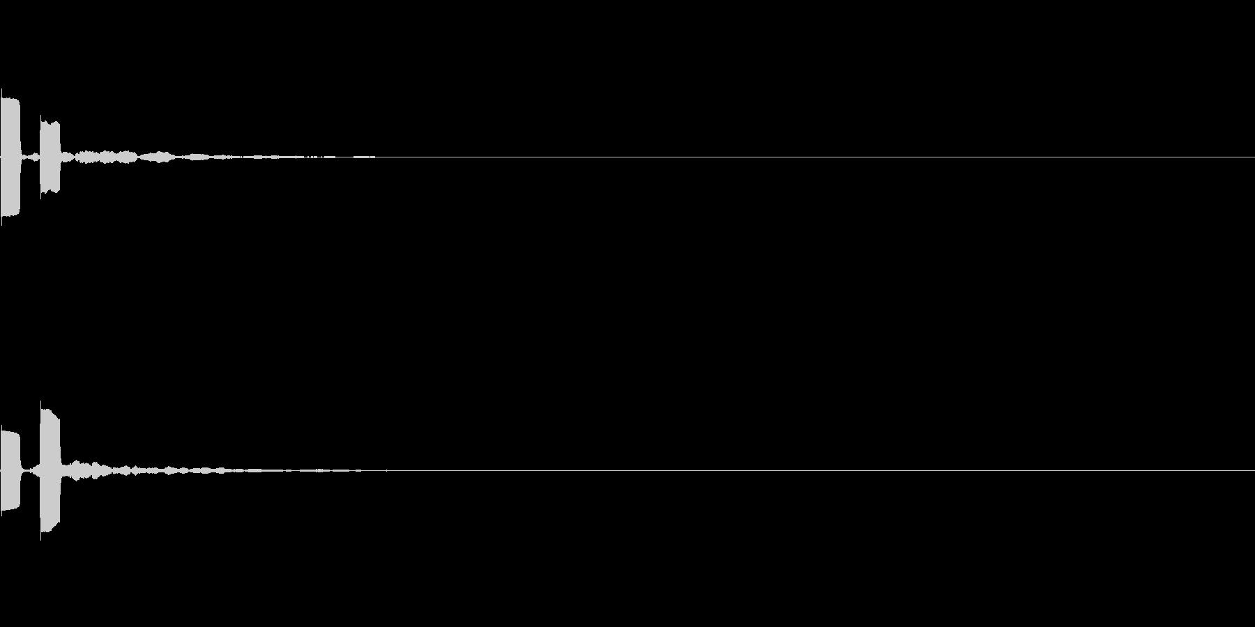 「ピピッ」キッカケ音_03の未再生の波形