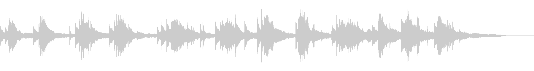 映像・ナレーション用ピアノ演奏(幻想2)の未再生の波形