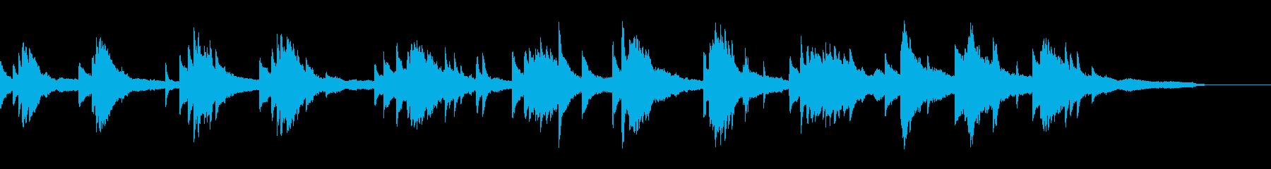 映像・ナレーション用ピアノ演奏(幻想2)の再生済みの波形