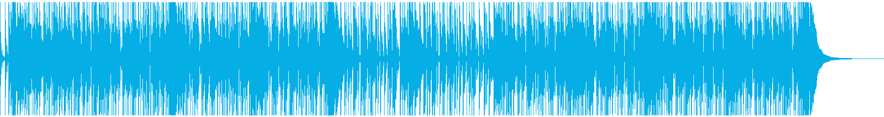 スラップベースが印象的なファンクの再生済みの波形