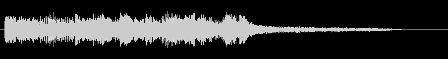 シリアスでモダンなピアノジングルの未再生の波形