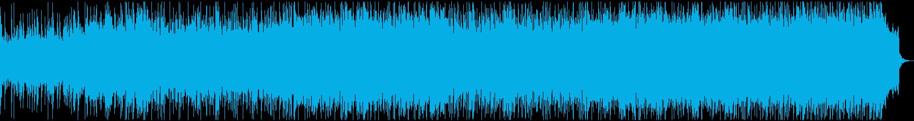 ロックトロニカ楽器。爆発的な熱狂的...の再生済みの波形